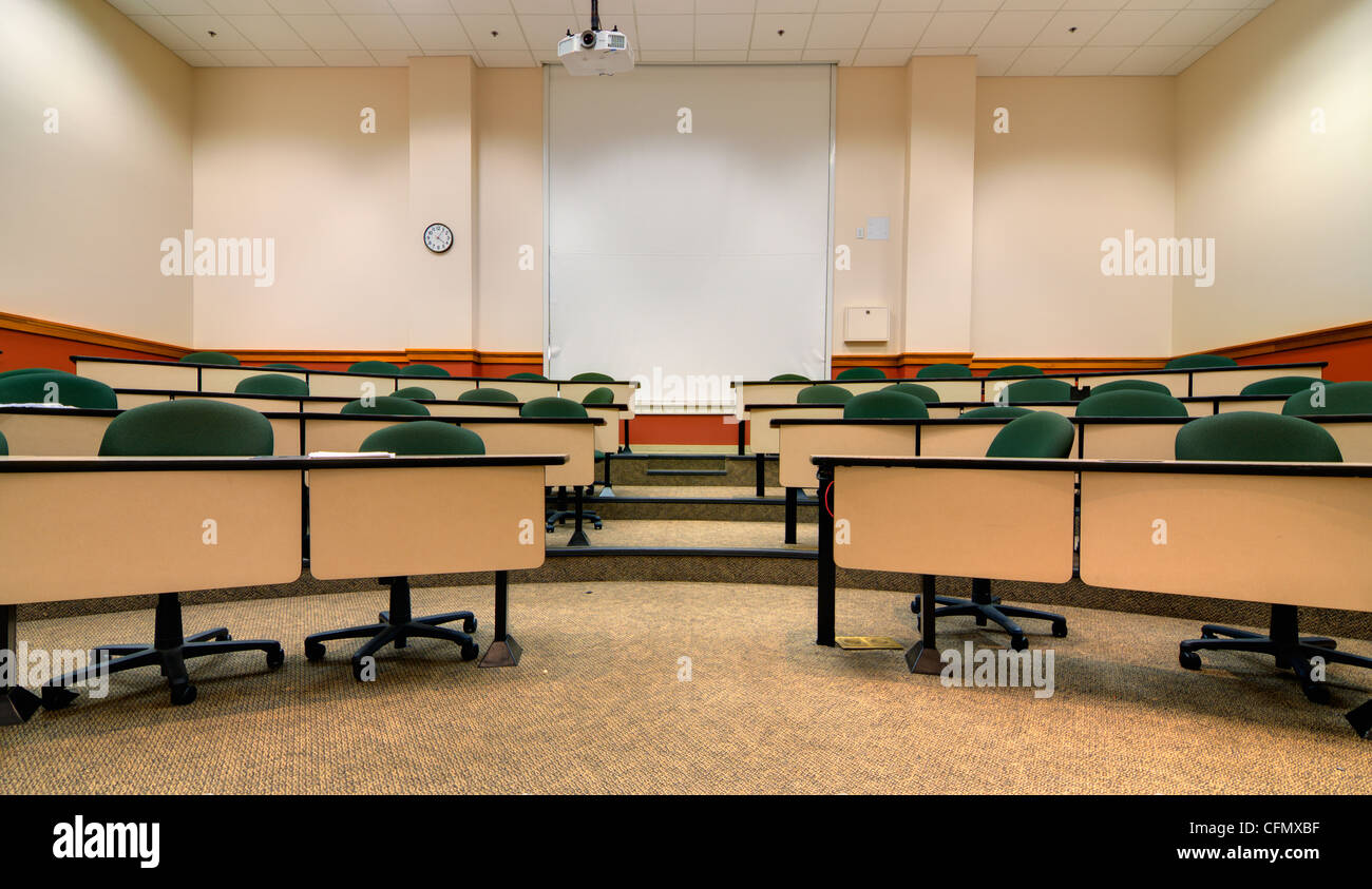 Interior of a college lecture hall - Stock Image