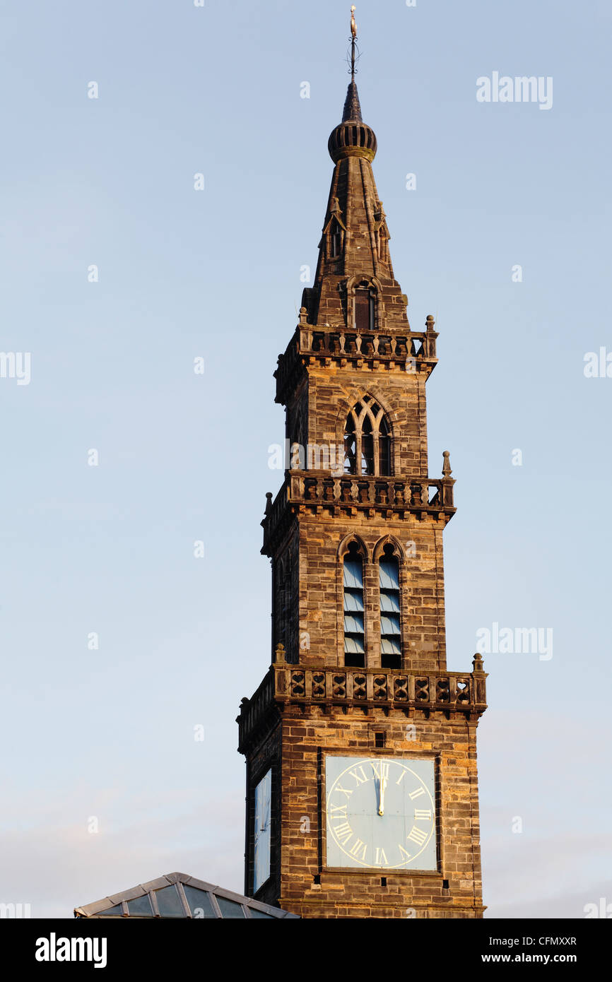 The Merchant Steeple in the old Fish Market in the Briggait area of Glasgow Scotland UK - Stock Image