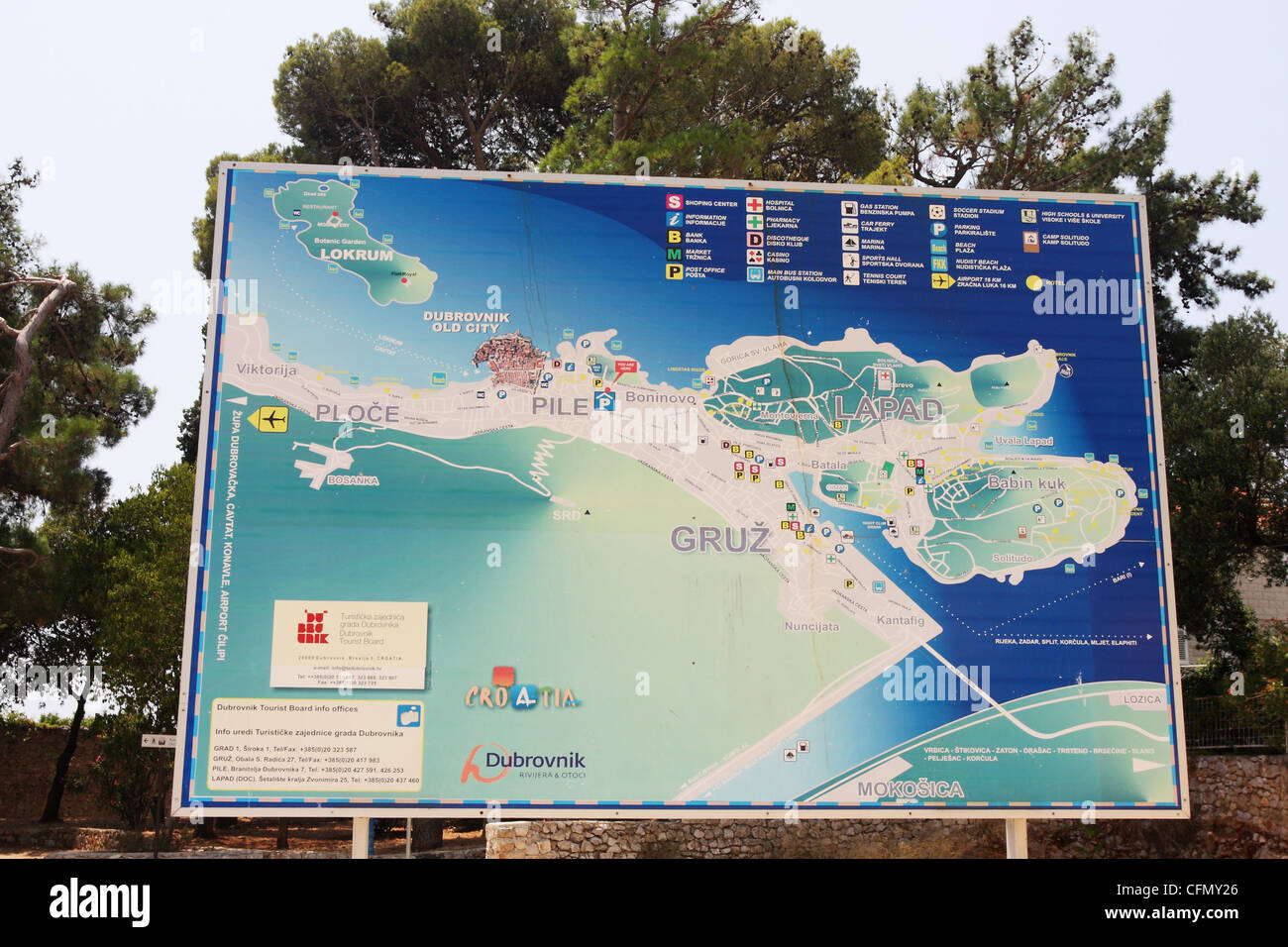 Map of dubrovnik croatia stock photo 44100846 alamy map of dubrovnik croatia gumiabroncs Gallery