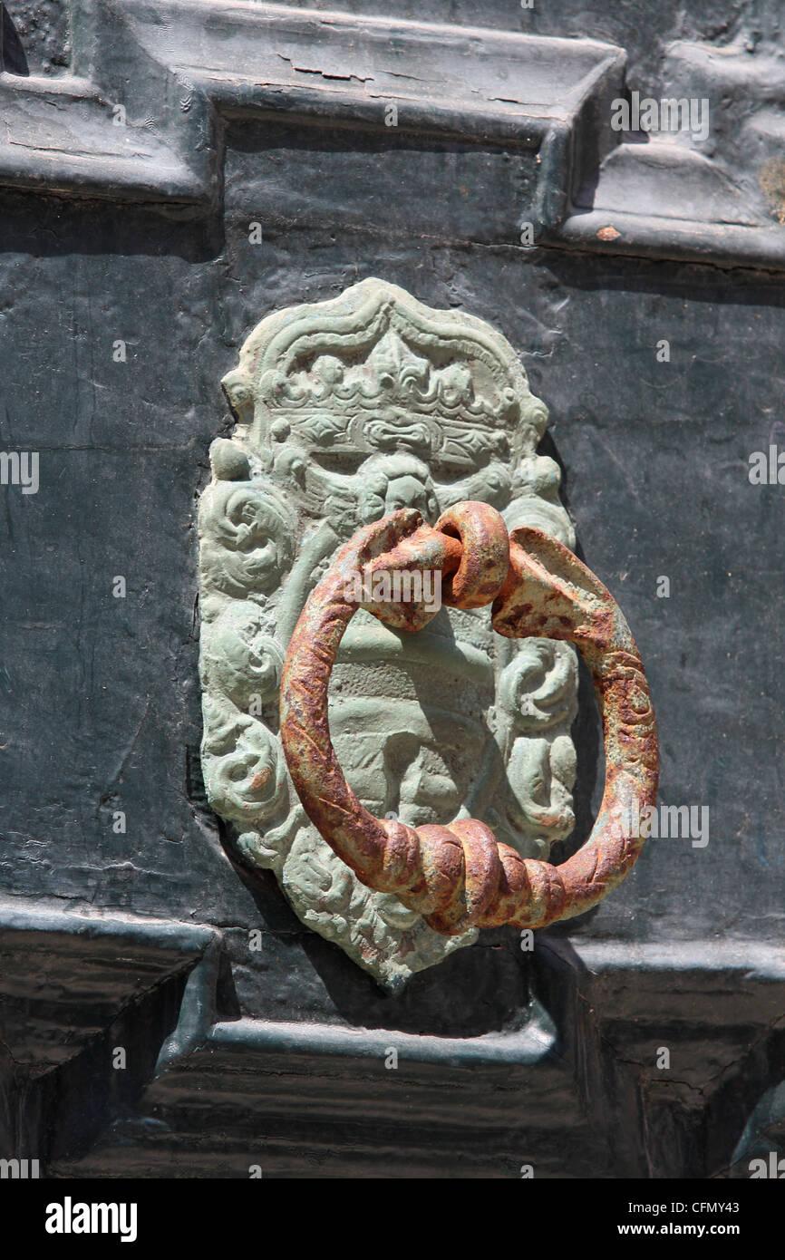 door handle. Dubrovnik, Croatia - Stock Image