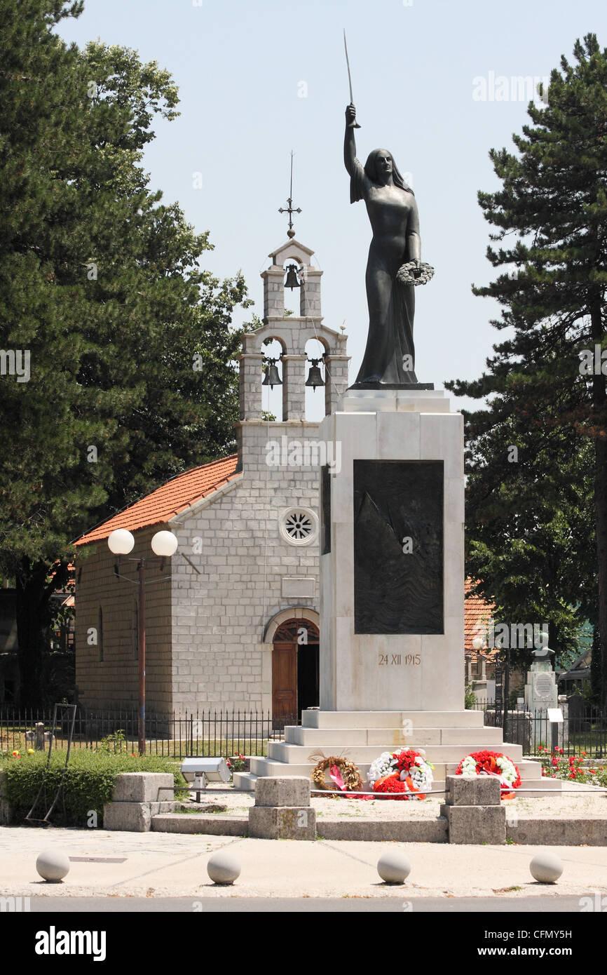 monument Lovchen soul Spirit in the Cetinje city. Montenegro - Stock Image