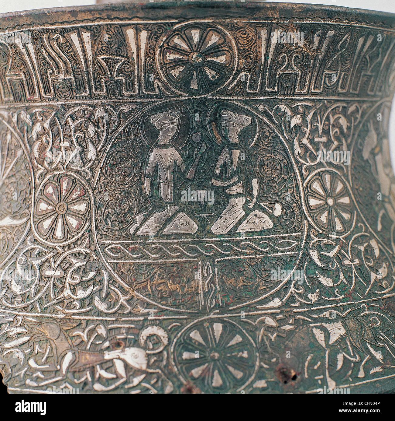 12 century Seljuk bronze chandelier - Stock Image