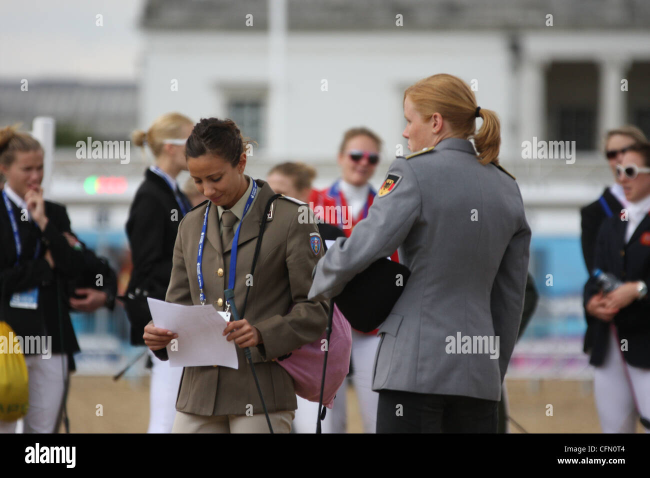 Lavinia Bonessio of Italy in the show jumping at the womens modern pentathlon at Greenwich park. - Stock Image