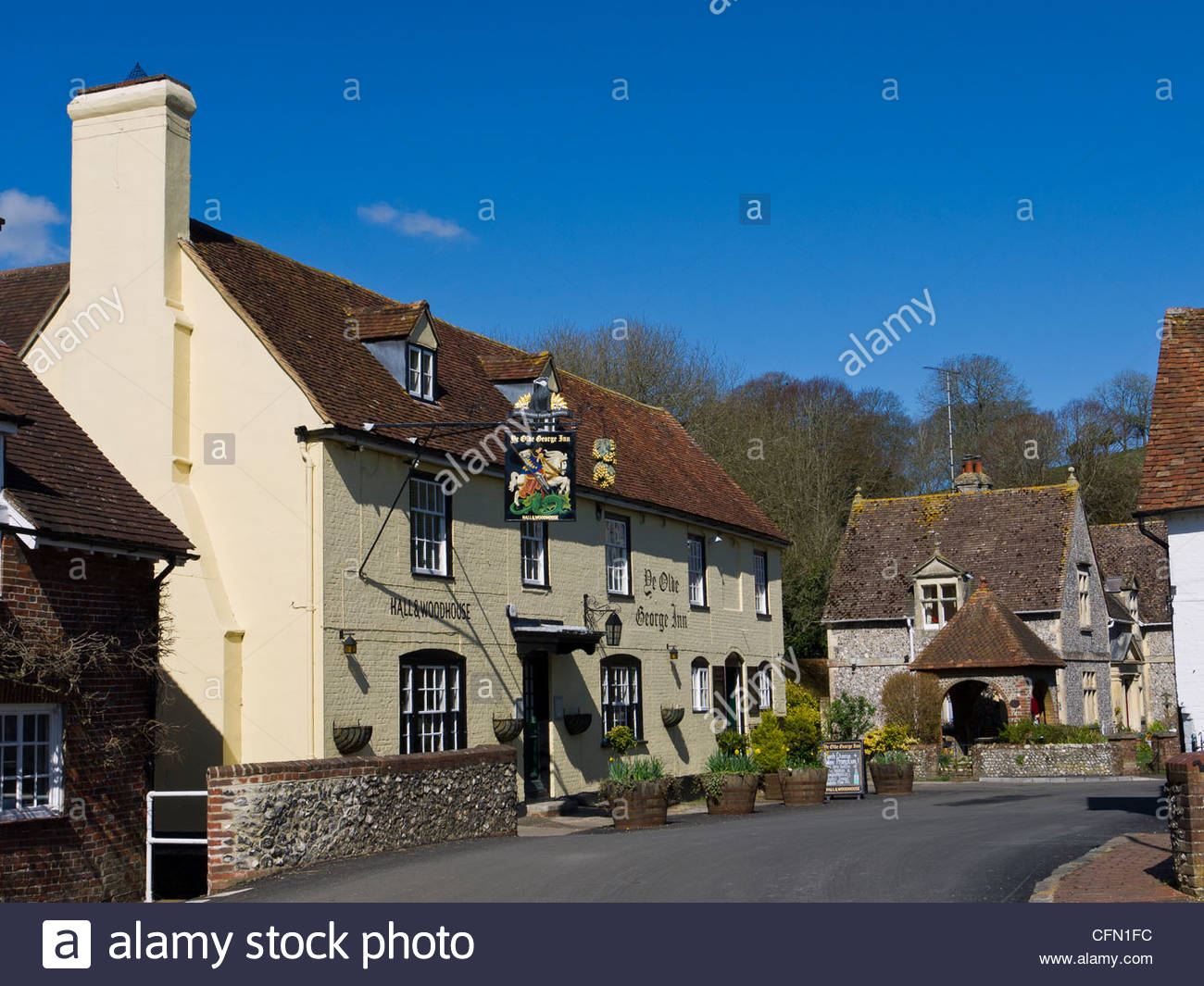 The Old George Inn East Meon Hampshire England UK - Stock Image