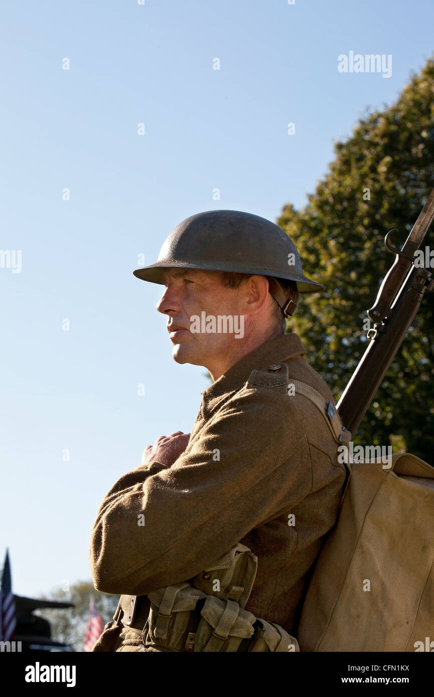 Depiction of British army soldier during first world war - Stock Image