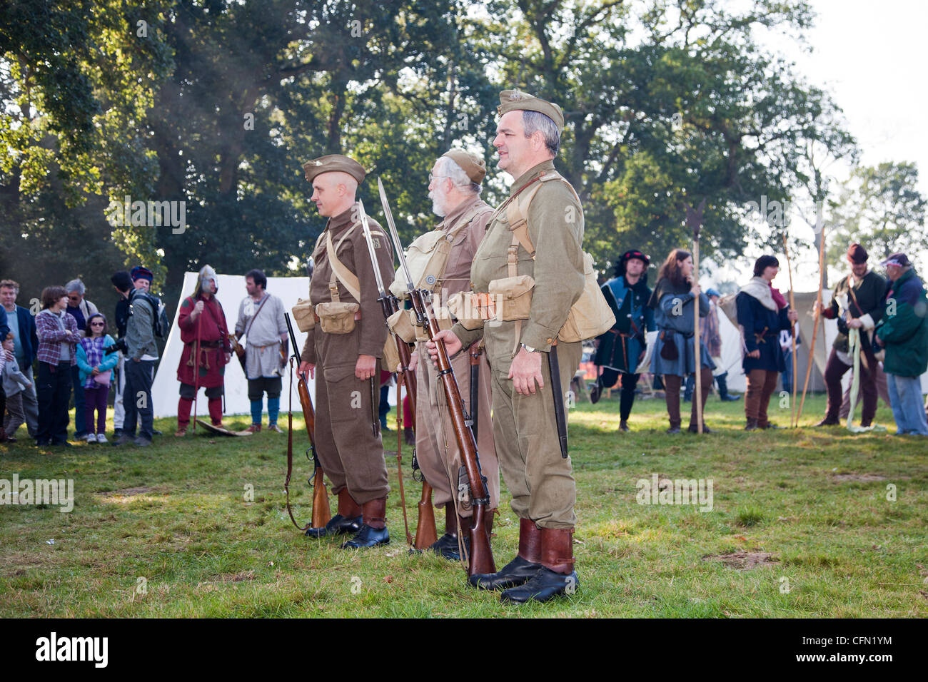 Re-enactment display of 2nd World War British army homeguard - Stock Image