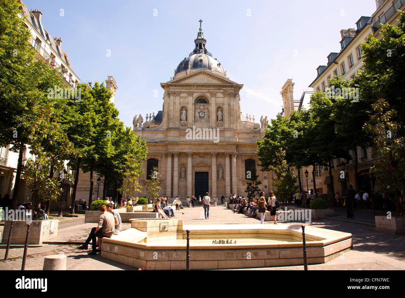 The Sorbonne in Paris France - Stock Image