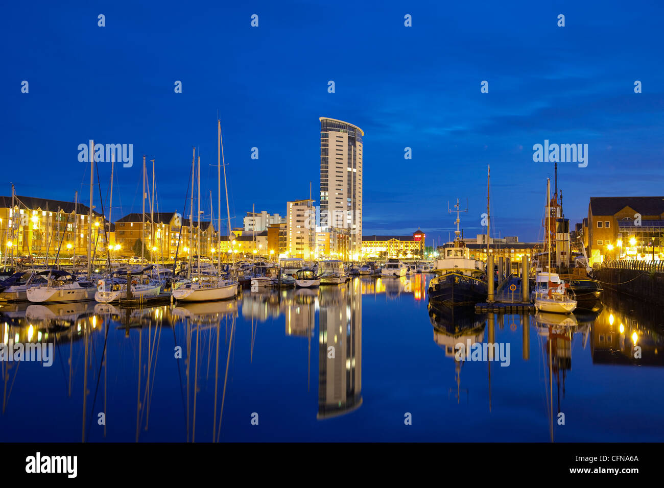 Swansea Marina, Swansea, West Glamorgan, South Wales, Wales, United Kingdom, Europe Stock Photo