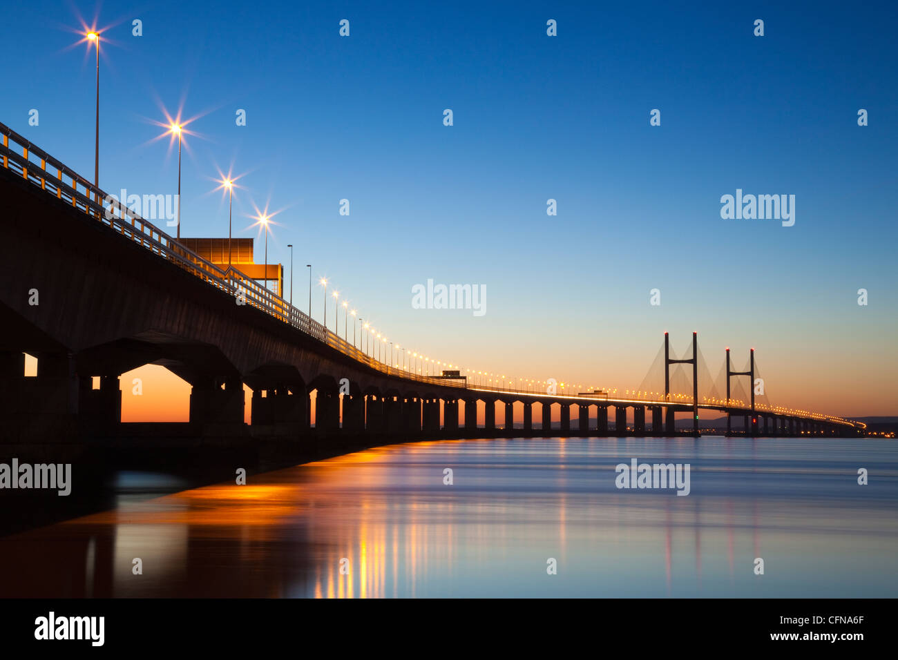 Second Severn Crossing Bridge, South East Wales, Wales, United Kingdom, Europe - Stock Image