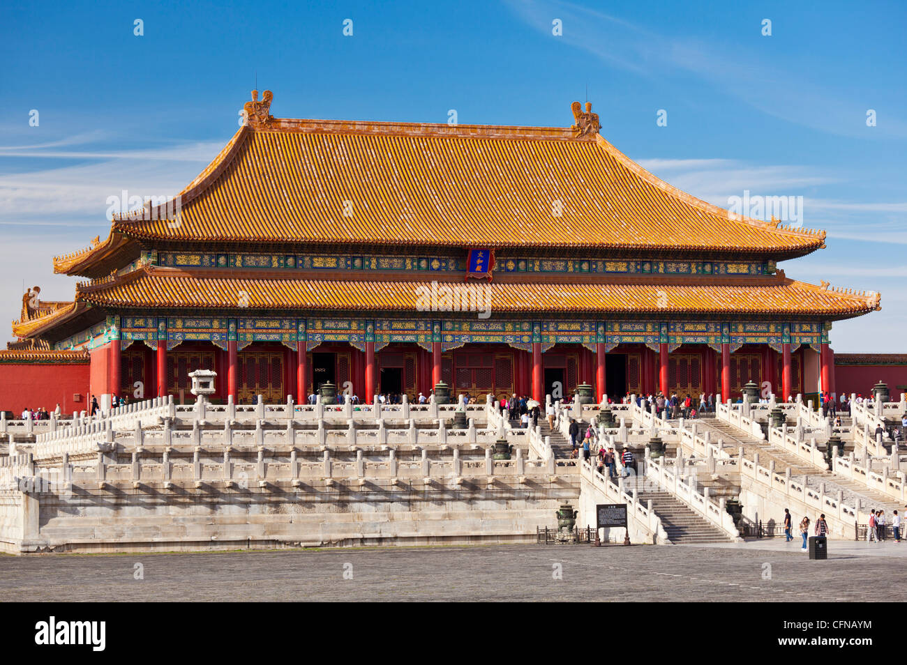 Hall of Supreme Harmony, Outer Court, Forbidden City, Beijing, China, Asia - Stock Image