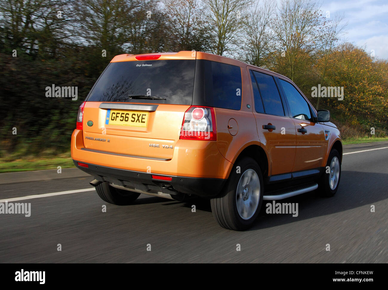 Land Rover Freelander 2 4x4 SUV off roader car driving action Stock Photo