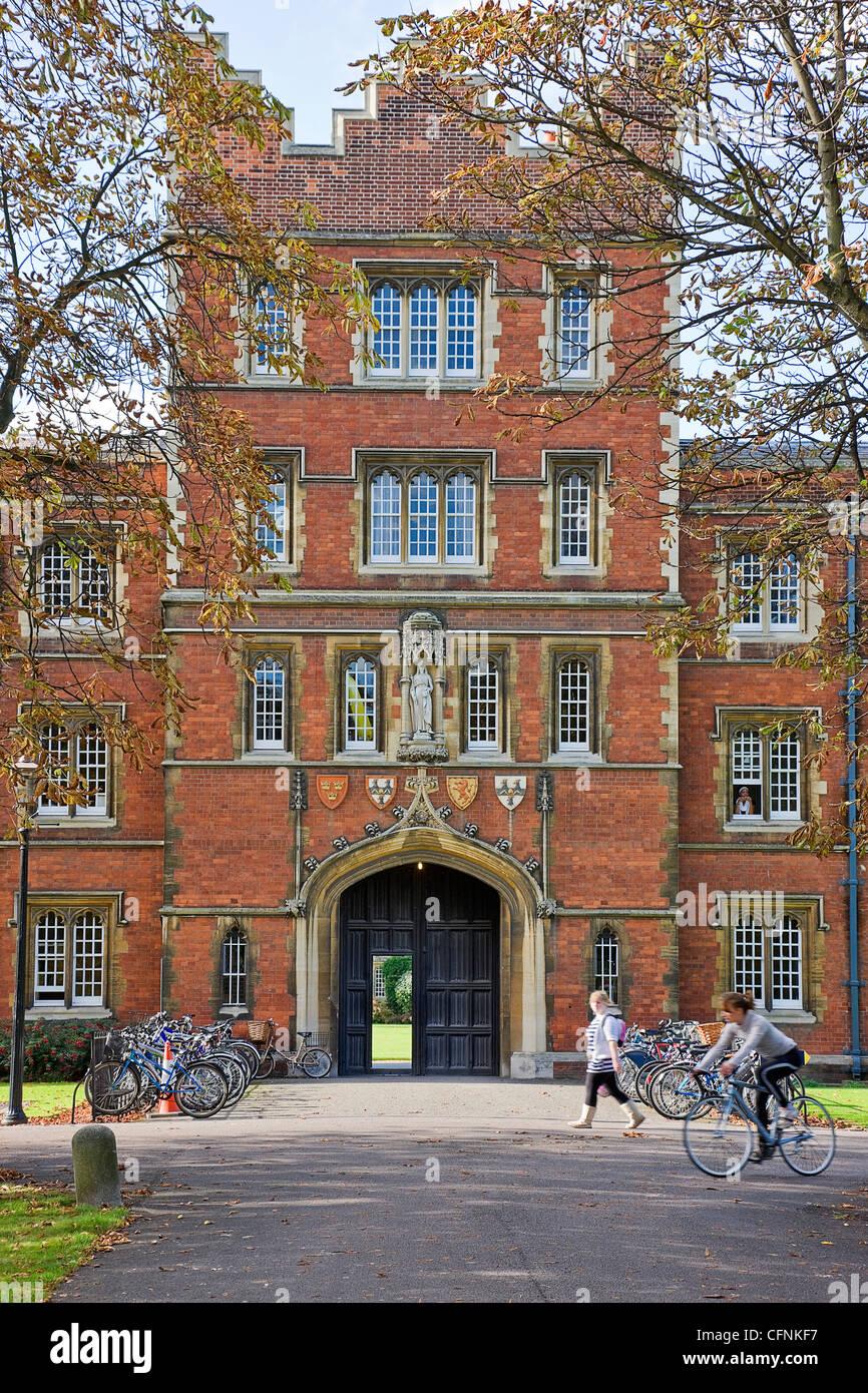 Jesus College, Cambridge, England, - Stock Image