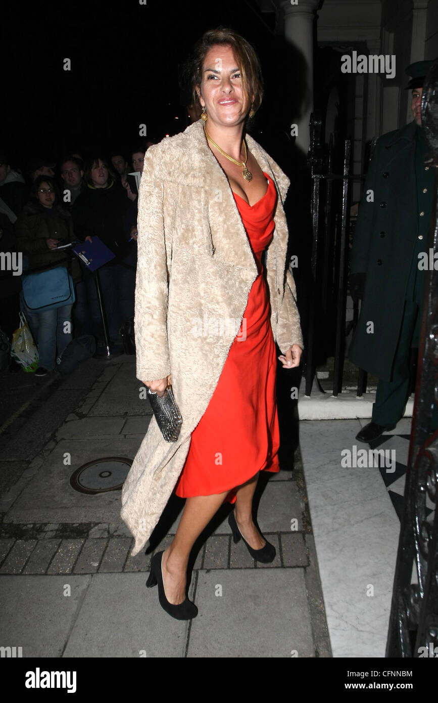 Tracy Emin arrives at Mark's Club in Mayfair to attend Finch And Partners' Pre-BAFTA Party London, England - 12.02.11 Stock Photo