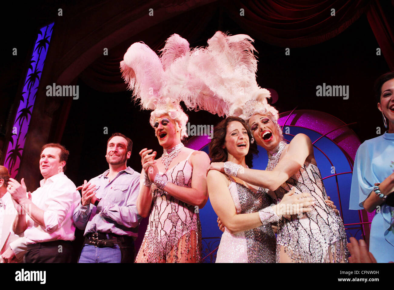 Douglas Hodge, Chris Hoch, Elena Shaddow and cast Final performance of Kelsey Grammer and Douglas Hodge in the Broadway - Stock Image