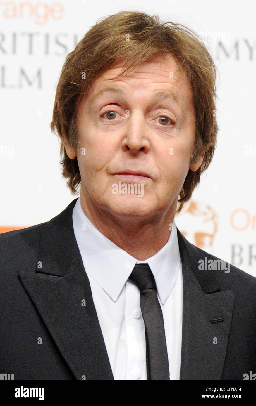 Paul McCartney  Orange British Academy Film Awards (BAFTAs) held at the Royal Opera House - Press Room London, England - Stock Image