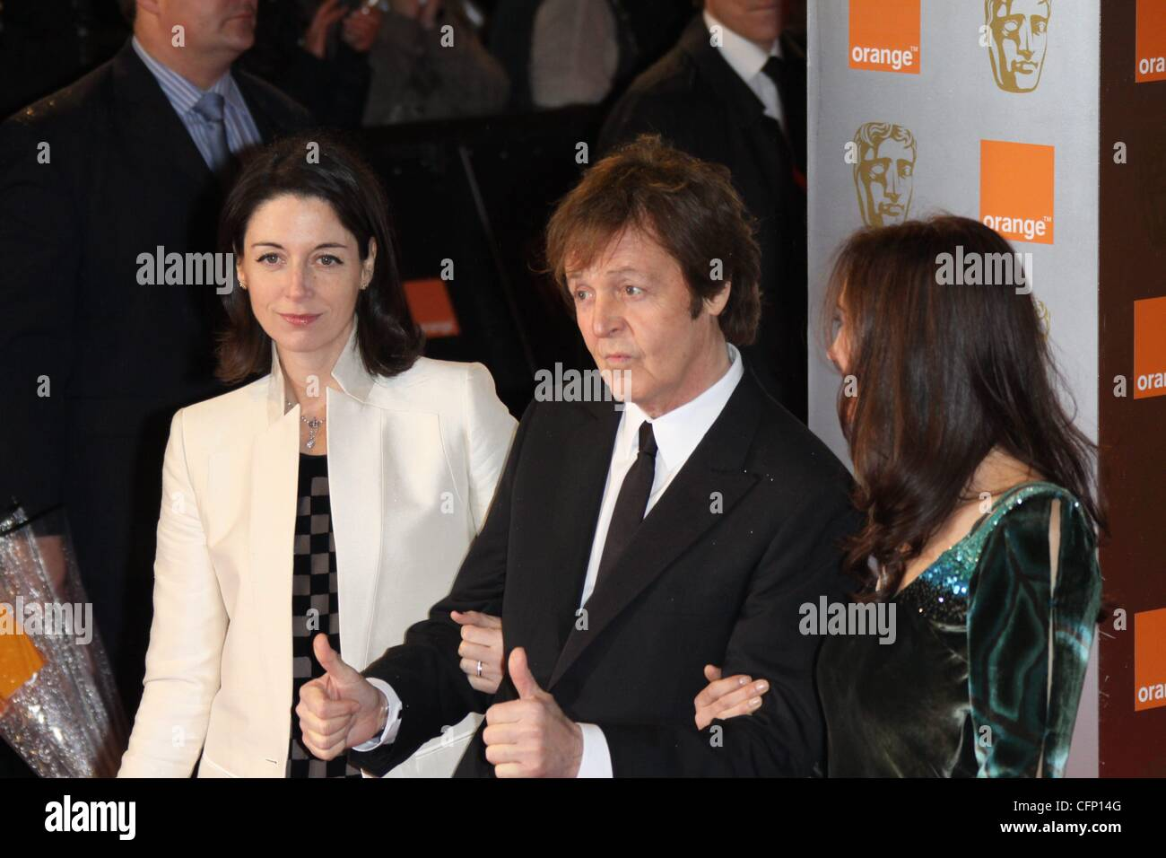 Paul McCartney And His Daughter Mary L Partner Nancy Shevel Orange British