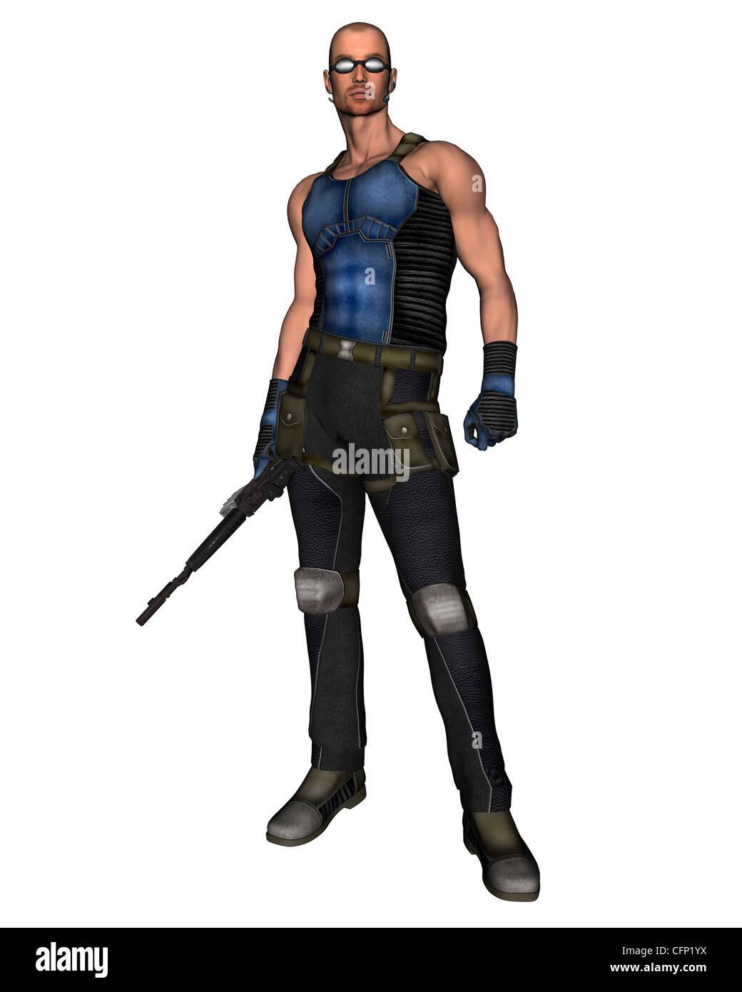 Sci-Fi Mercenary - 1 - Stock Image