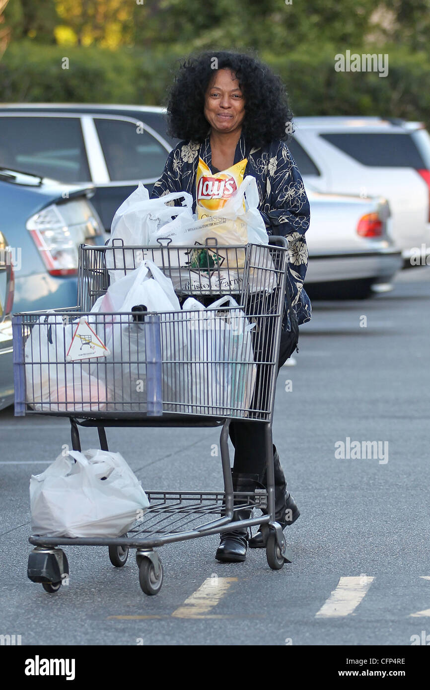 diana ross leaves bristol farms bare-faced with no makeup