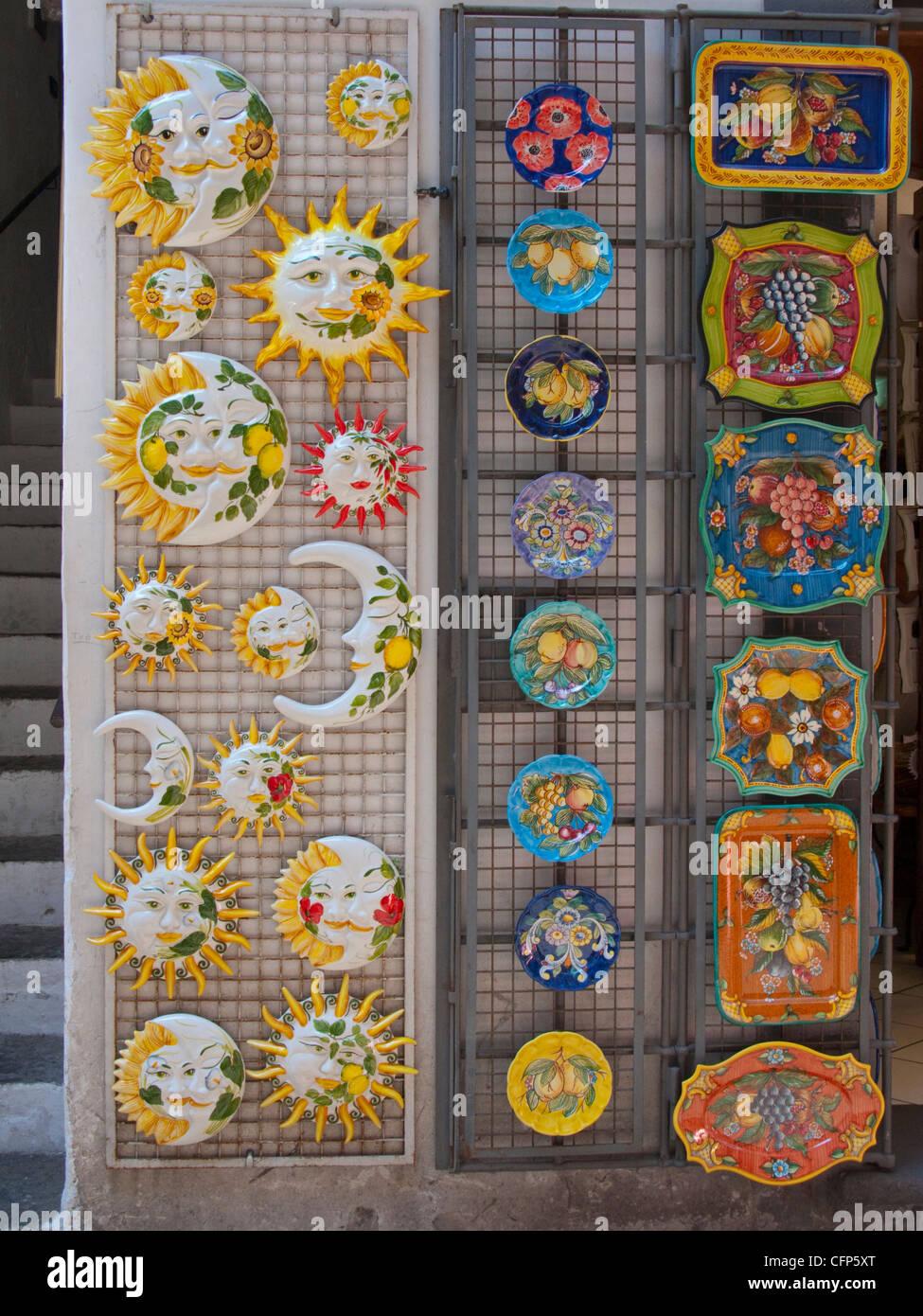 Souvenirs at a shop, Piazza Flavio Gioia, Amalfi, Amalfi coast, Unesco World Heritage site, Campania, Italy, Mediterranean Stock Photo