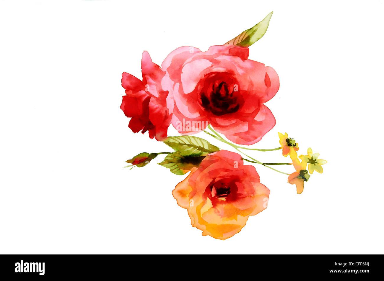 Watercolour Flowers Stock Photos & Watercolour Flowers Stock Images ...