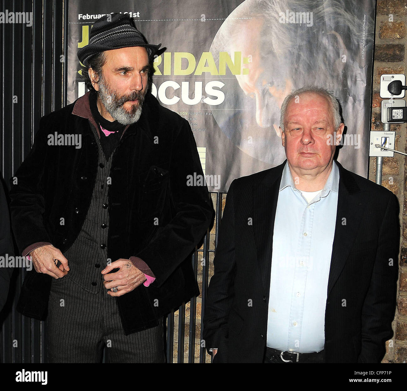 Daniel Day-Lewis, and director Jim Sheridan at a screening: 'My Left Foot' at the start of the Jim Sheridan - Stock Image