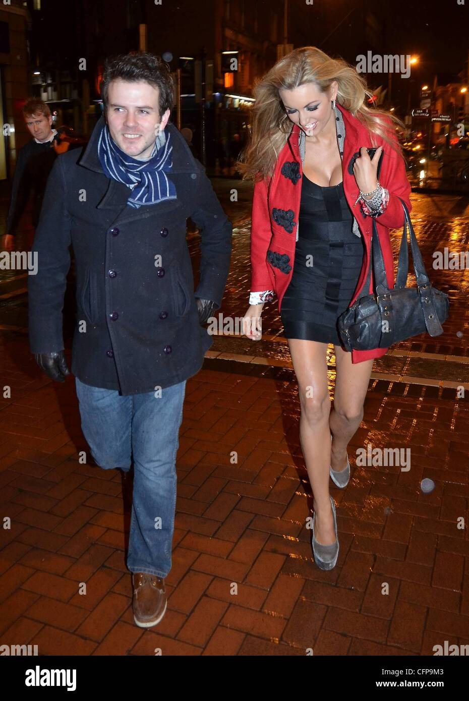 Former miss world rosanna davison and friend brendan rogers brave former miss world rosanna davison and friend brendan rogers brave the gale force winds to attend a party for dubliner magazine at lillies bordello thecheapjerseys Images