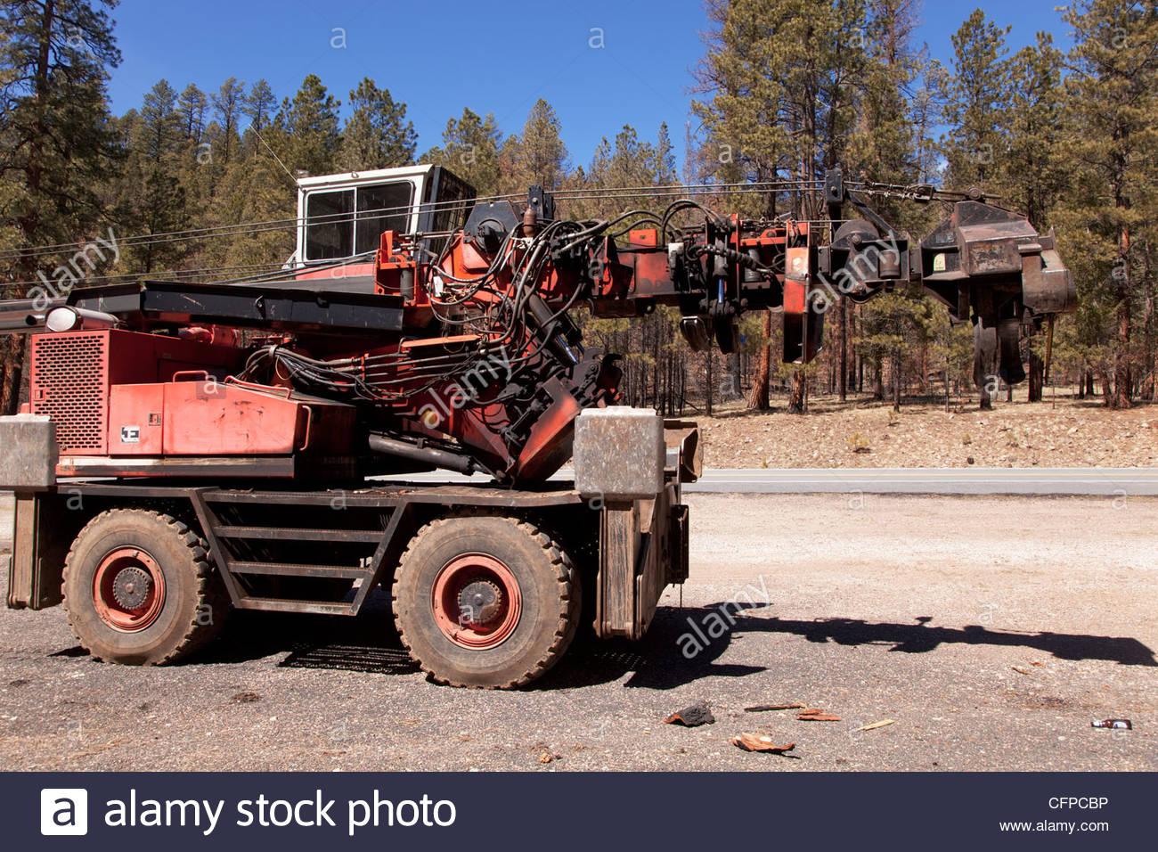 Logging Equipment stroke delimber (?) wheel mounted Arizona