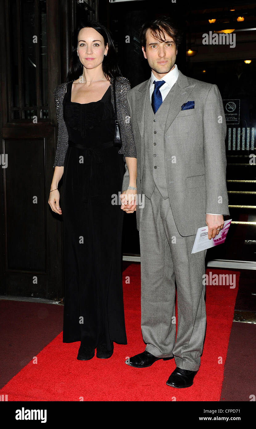 Ed Stoppard and guest,  at the London Evening Standard British Film Awards 2011 at the Marriot Hotel - Arrivals - Stock Image