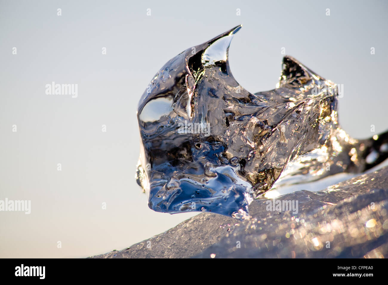 Ice, close-up - Stock Image