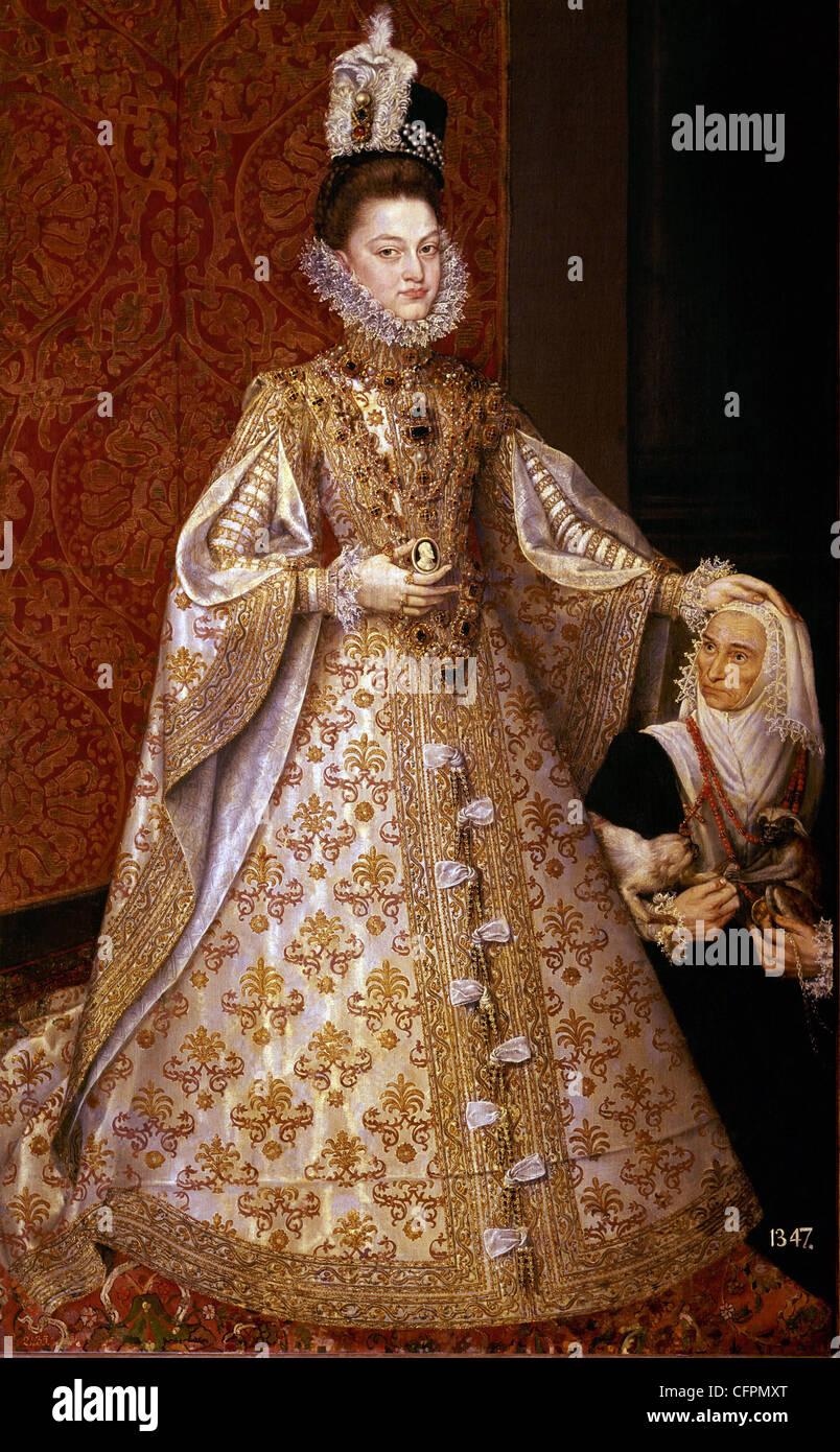 Alonso Sanchez Coello Elizabeth Claire Eugeny and Magdalene Ruiz Museo del Prado - Madrid - Stock Image