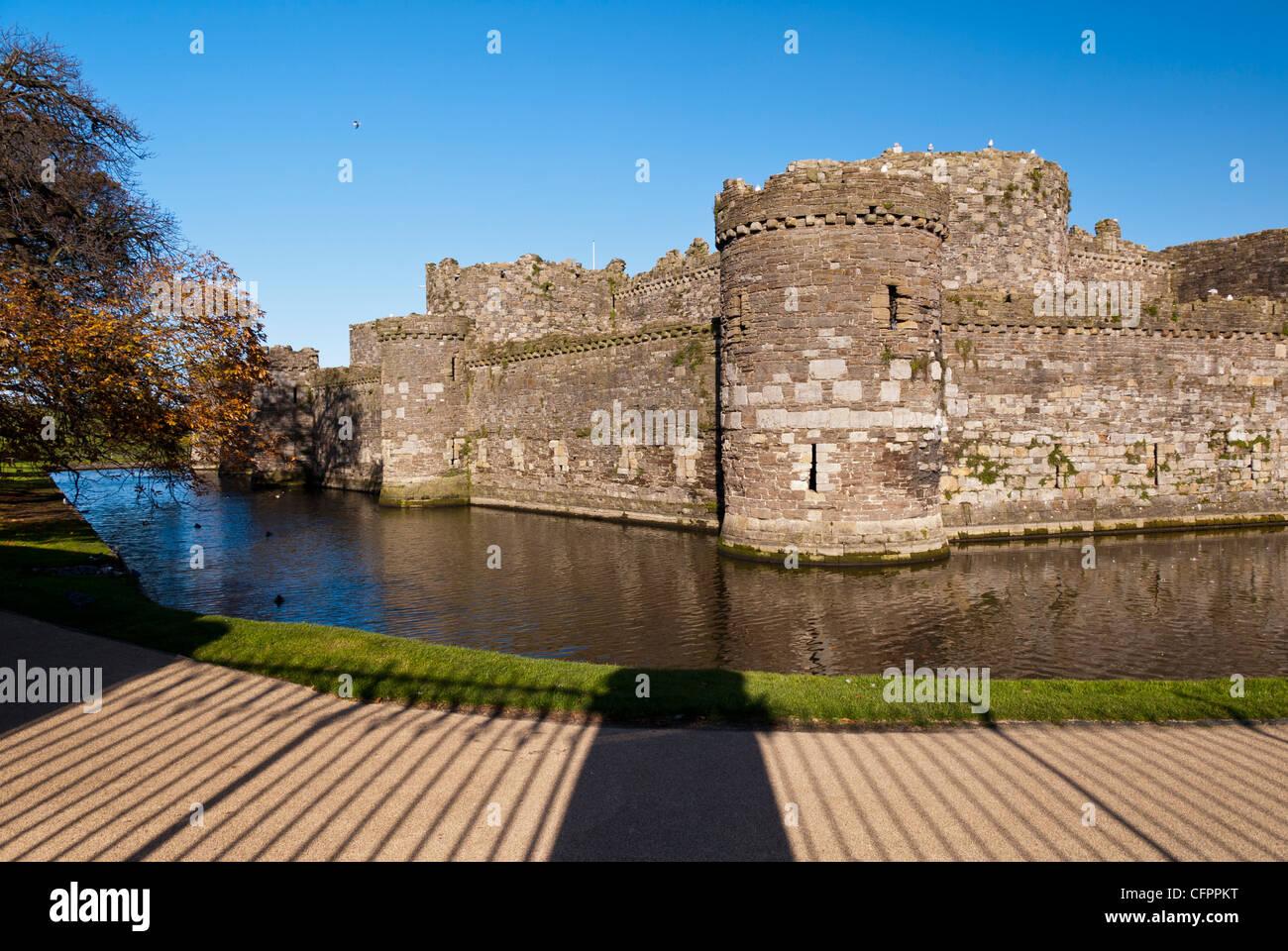 Beaumaris Castle Beaumaris Anglesey North Wales Uk - Stock Image
