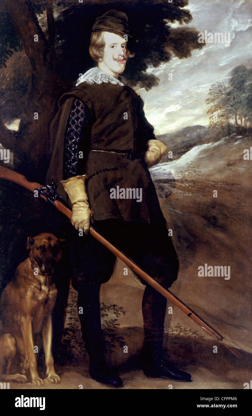 Diego Velazquez Portrait of Philippe IV king of Spain in hunting dress 1635 Museo del Prado - Madrid - Stock Image