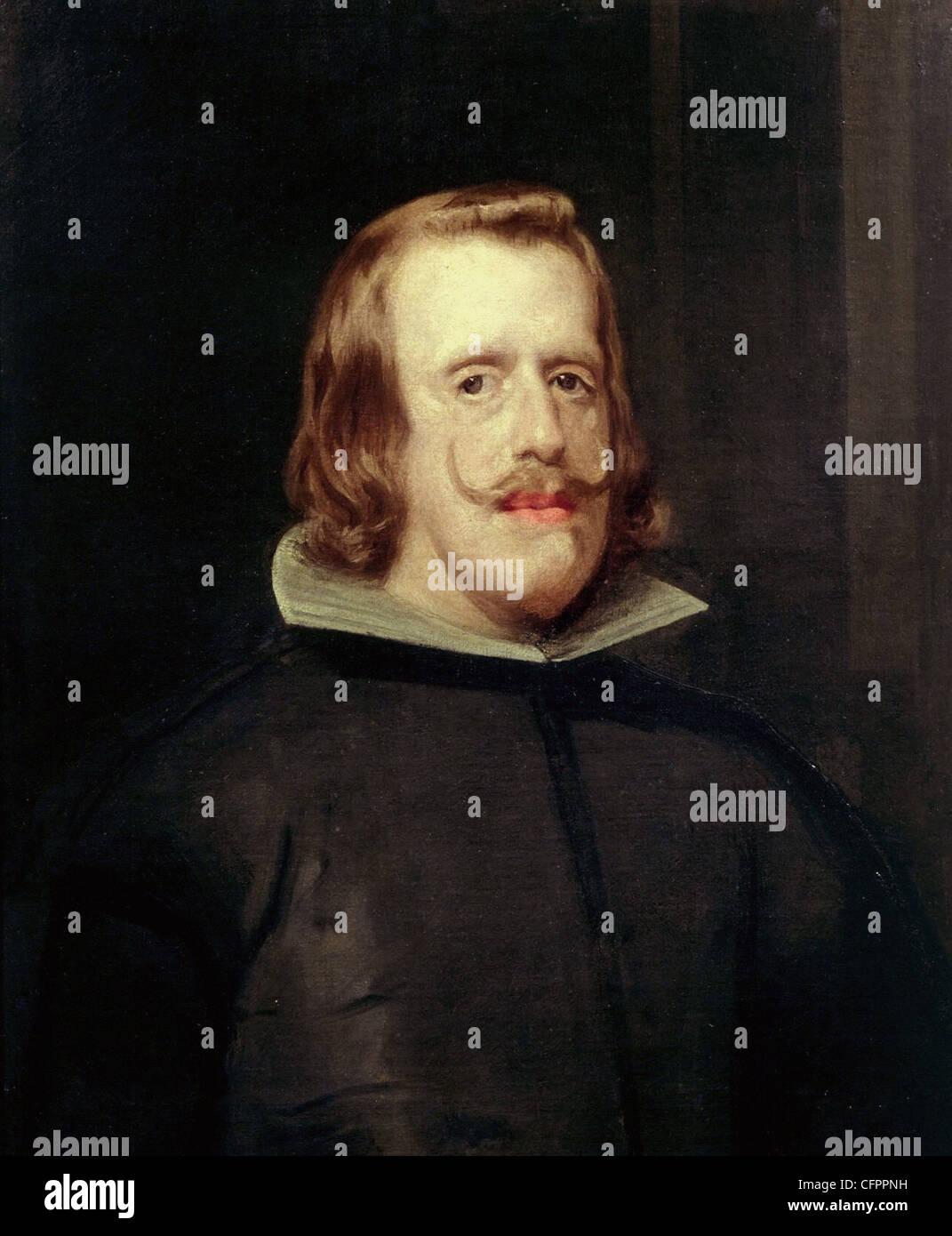 Diego Velazquez Portrait of Philippe IV King of Spain XVII th century Museo del Prado - Madrid - Stock Image