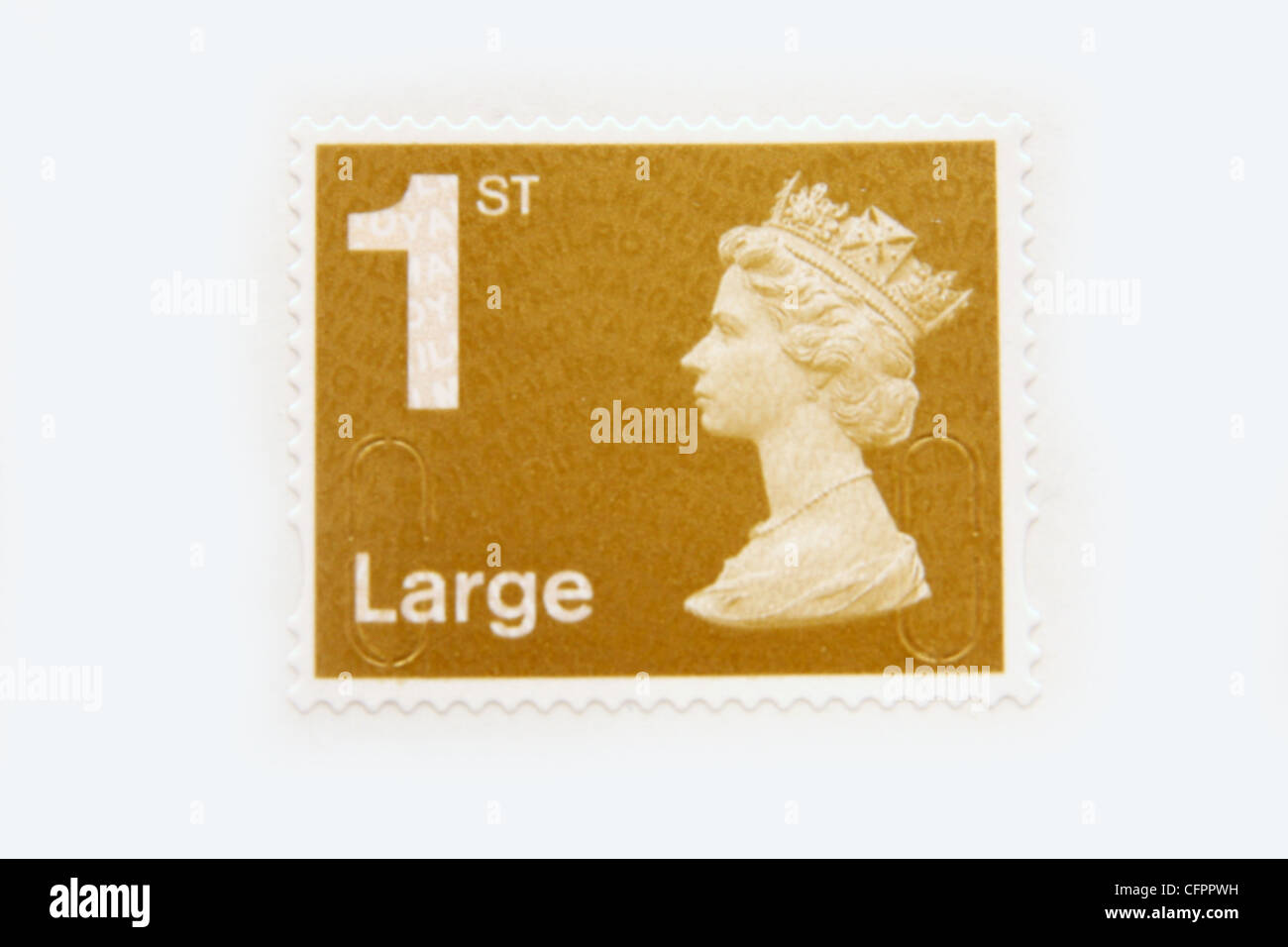 A UK 1st class large stamp. - Stock Image