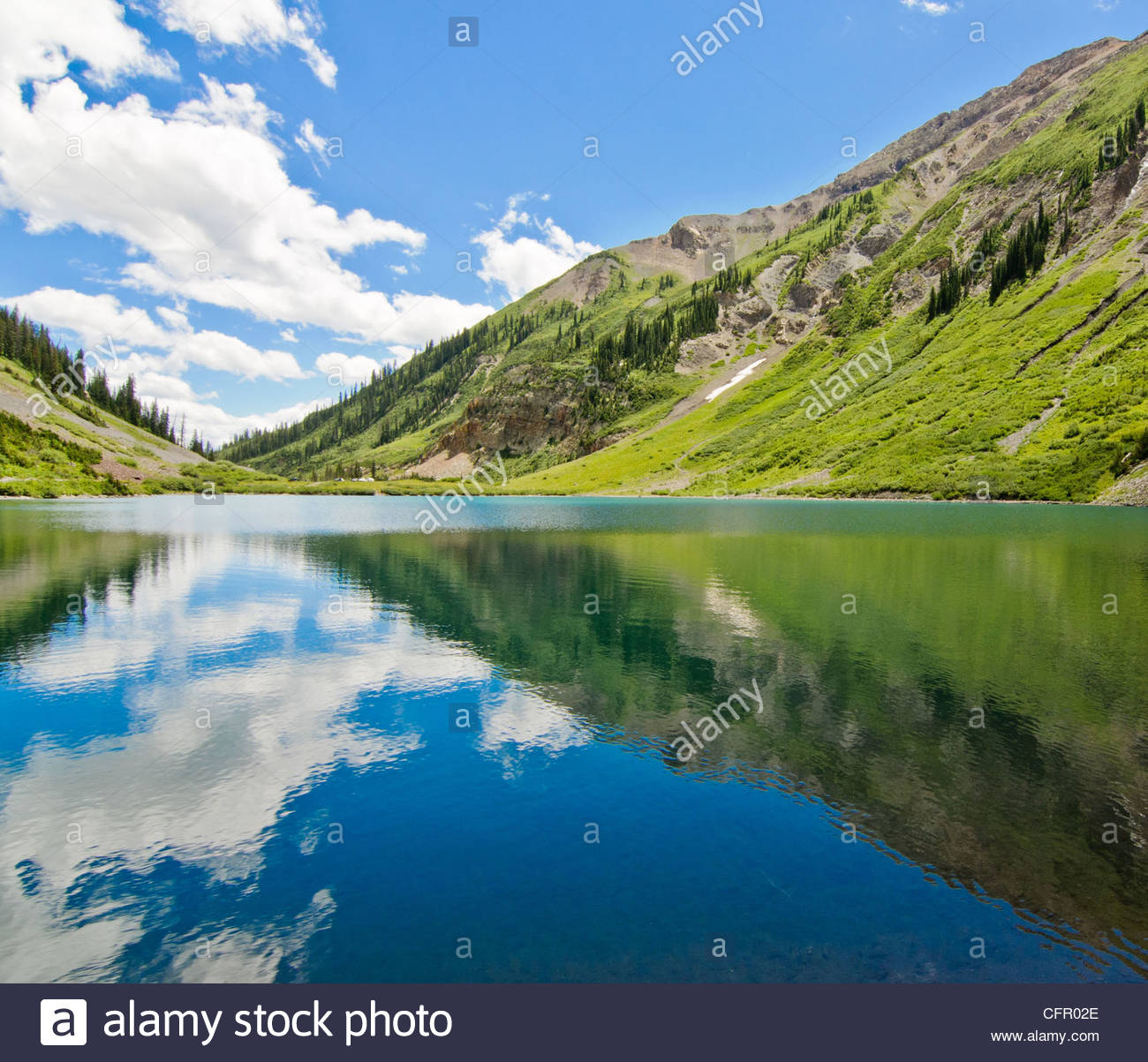 Emerald Lake, Gothic Natural Area, Aug 10, 2010 - Stock Image