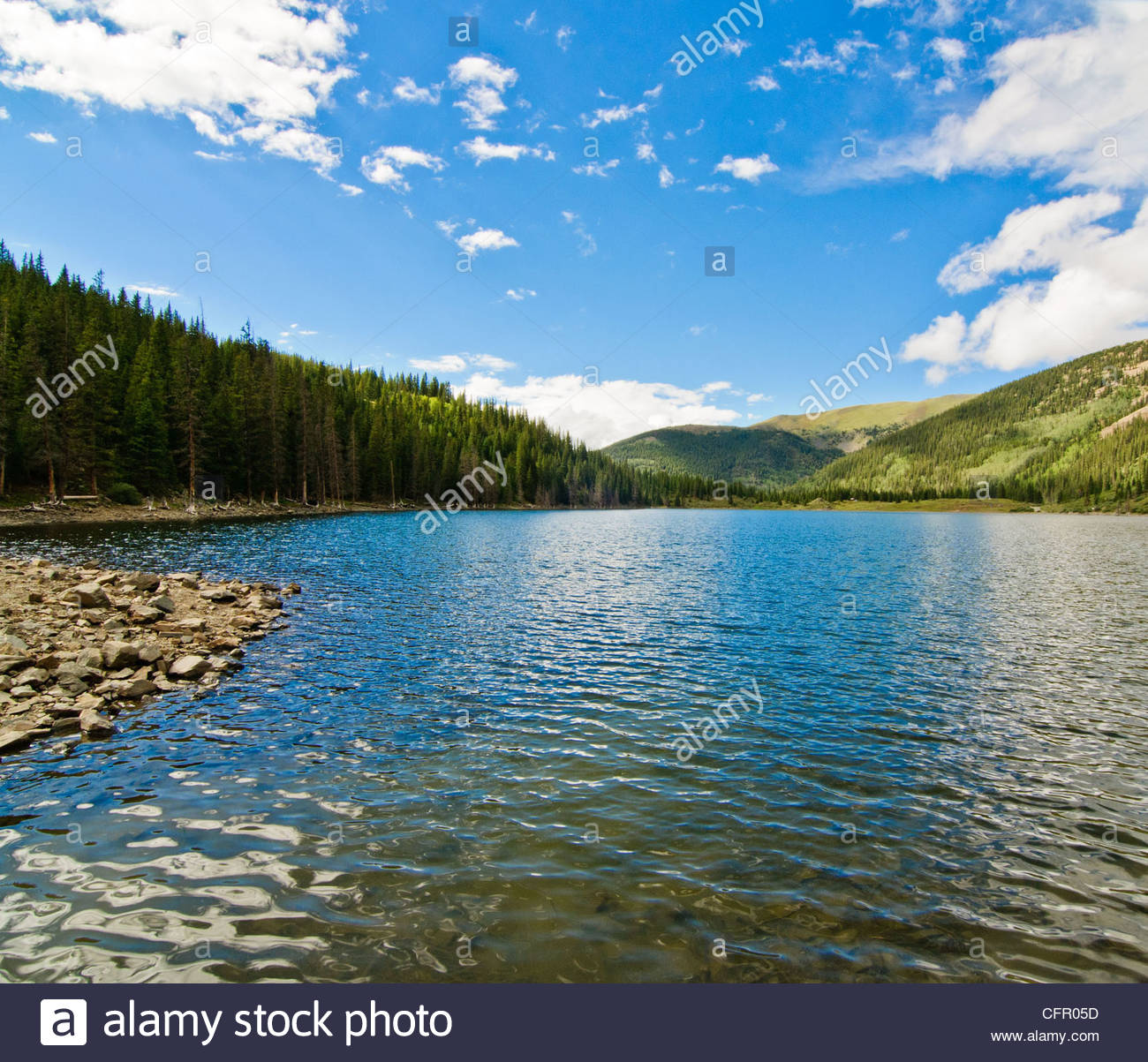 Mirror Lake looking North, Tincup, CO, Aug 9, 2010 - Stock Image