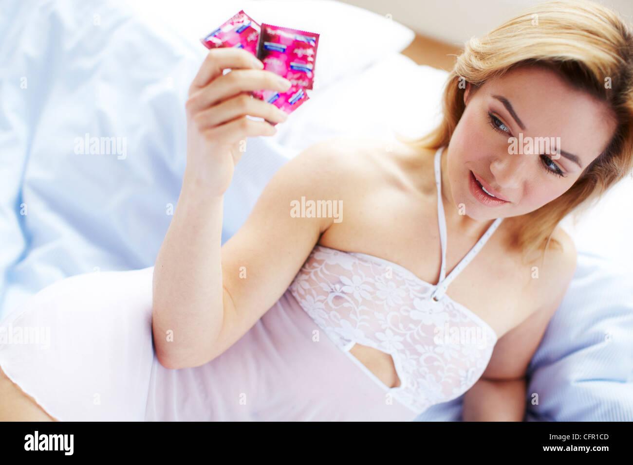 Condom in a girl