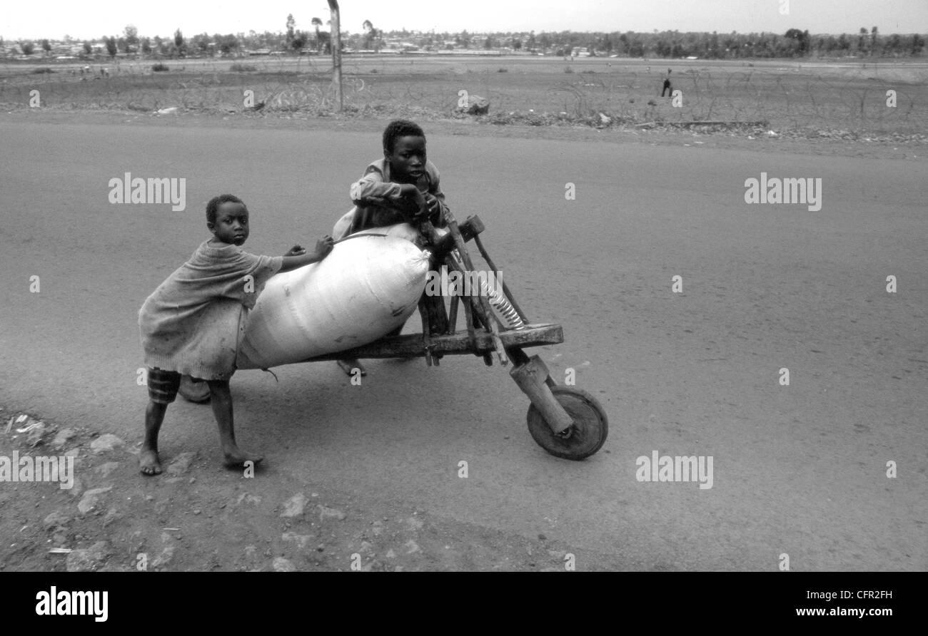 Goma. Zaire. Stock Photo