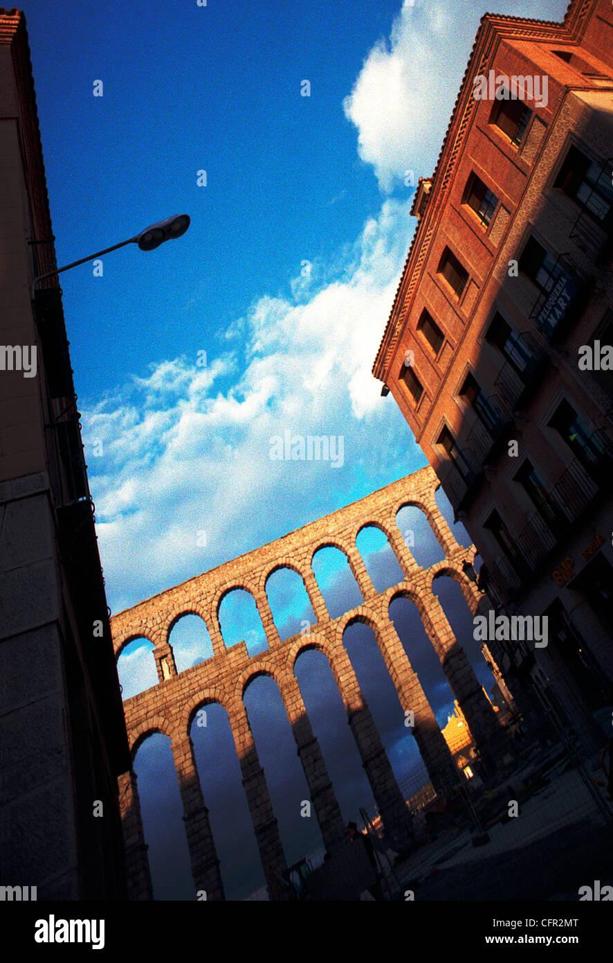 Acueducto de Segovia. Stock Photo