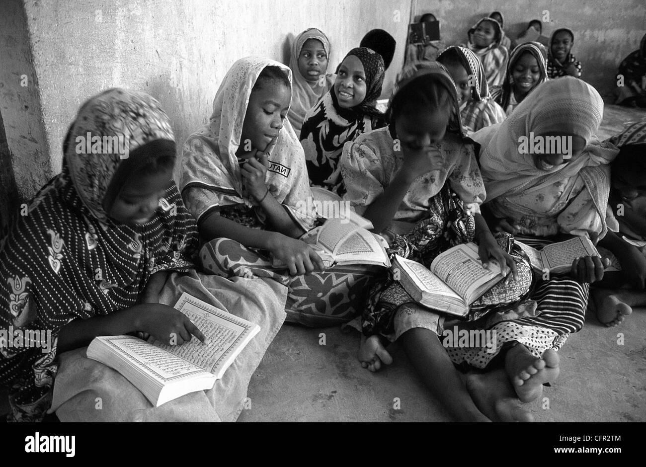 Escuela coránica en Kiwengwa. Zanzíbar. Stock Photo