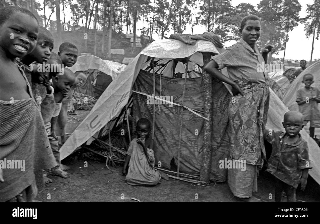 Campos de Refugiados de Hutus en Goma. Zaire. Stock Photo