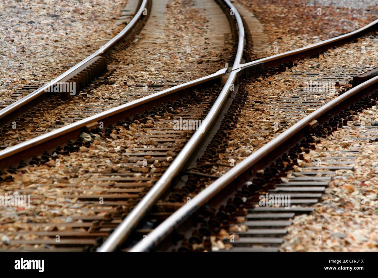 Cruce de vías. Stock Photo