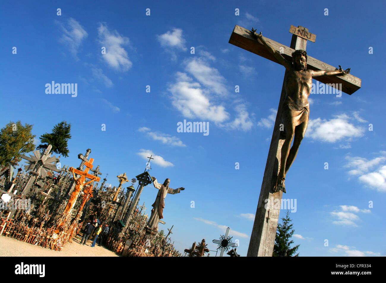 Colina de Las Cruces. Lituania. Stock Photo