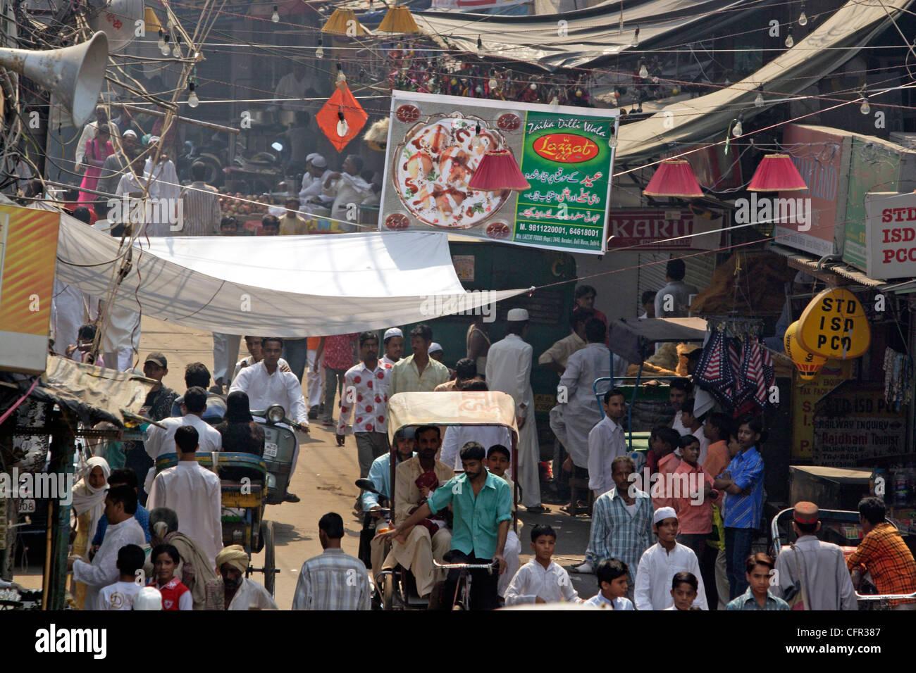 Calles de Nueva Delhi. India. Stock Photo