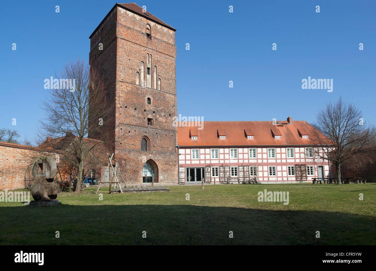 Kreismuseen Alte Bischofsburgwith Museum Dreißigjähriger Krieg, Wittstock, Brandenburg, Germany - Stock Image