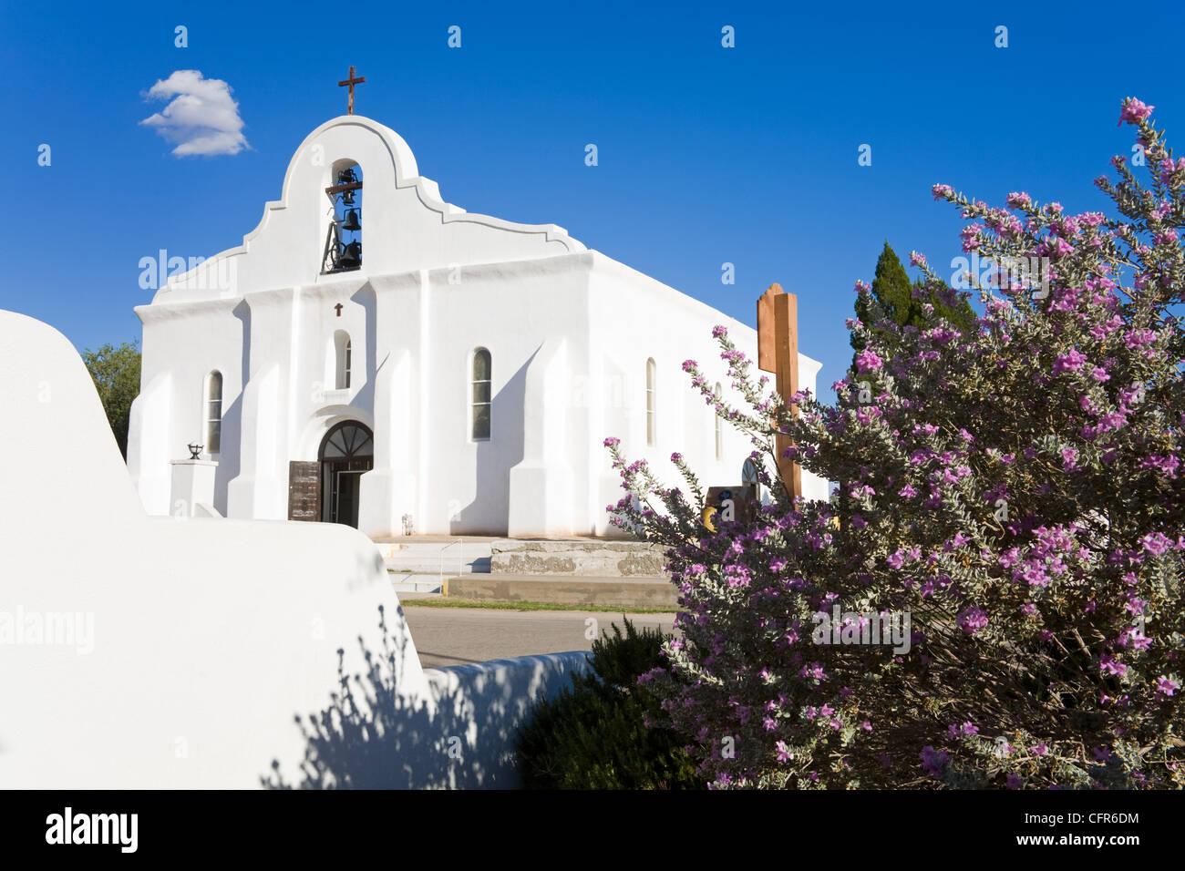 San Elizario Mission, El Paso, Texas, United States of America, North America - Stock Image