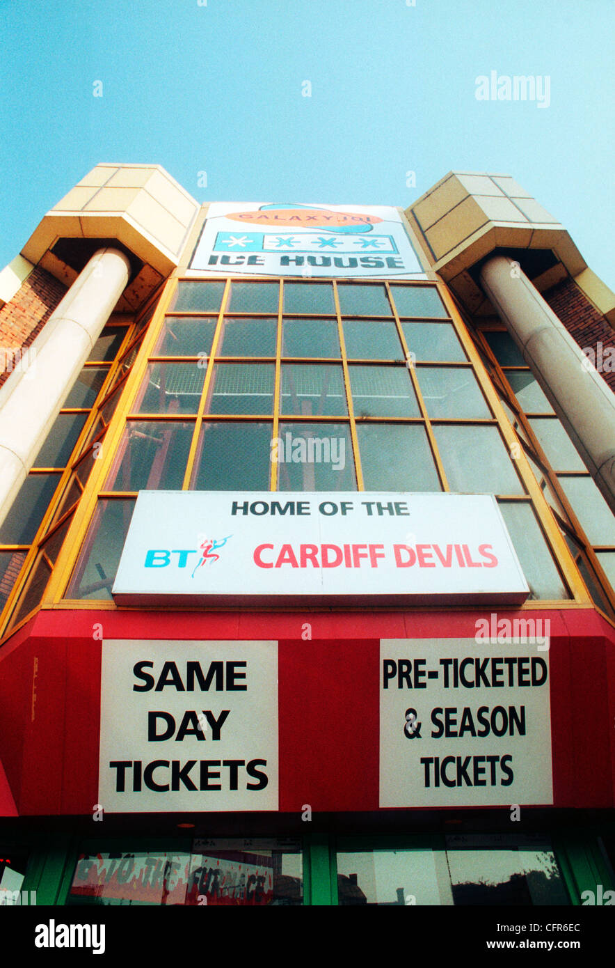 The former Cardiff Ice Rink - one time home to the Cardiff Devils Ice Hockey team, which has since been demolished. - Stock Image