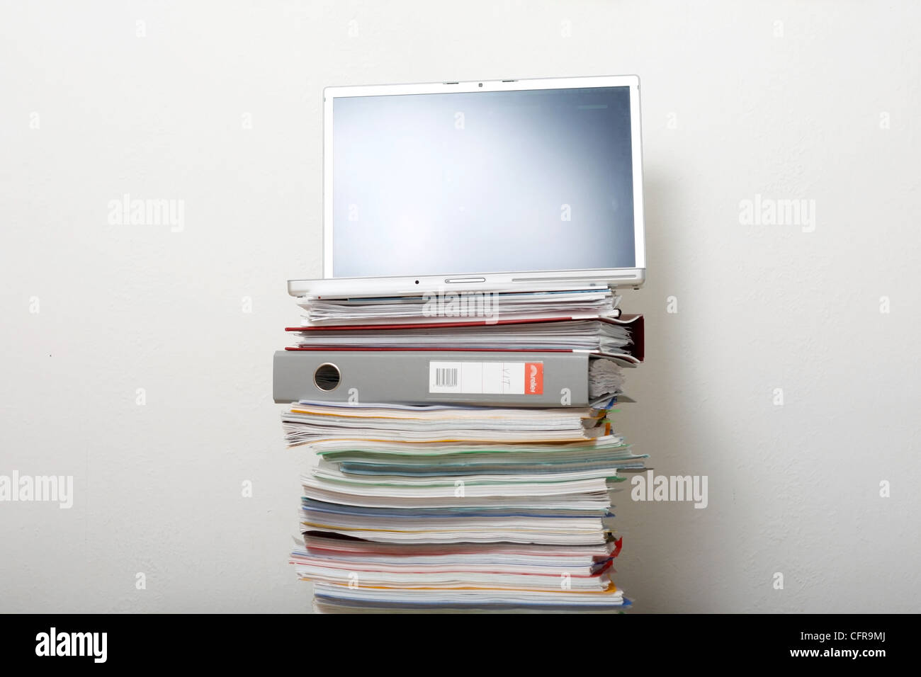 A pile of work - Stock Image