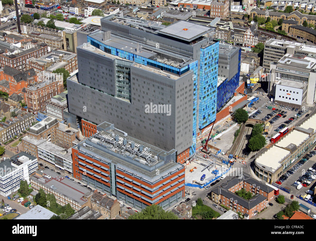Aerial view of The Royal London Hospital - Stock Image