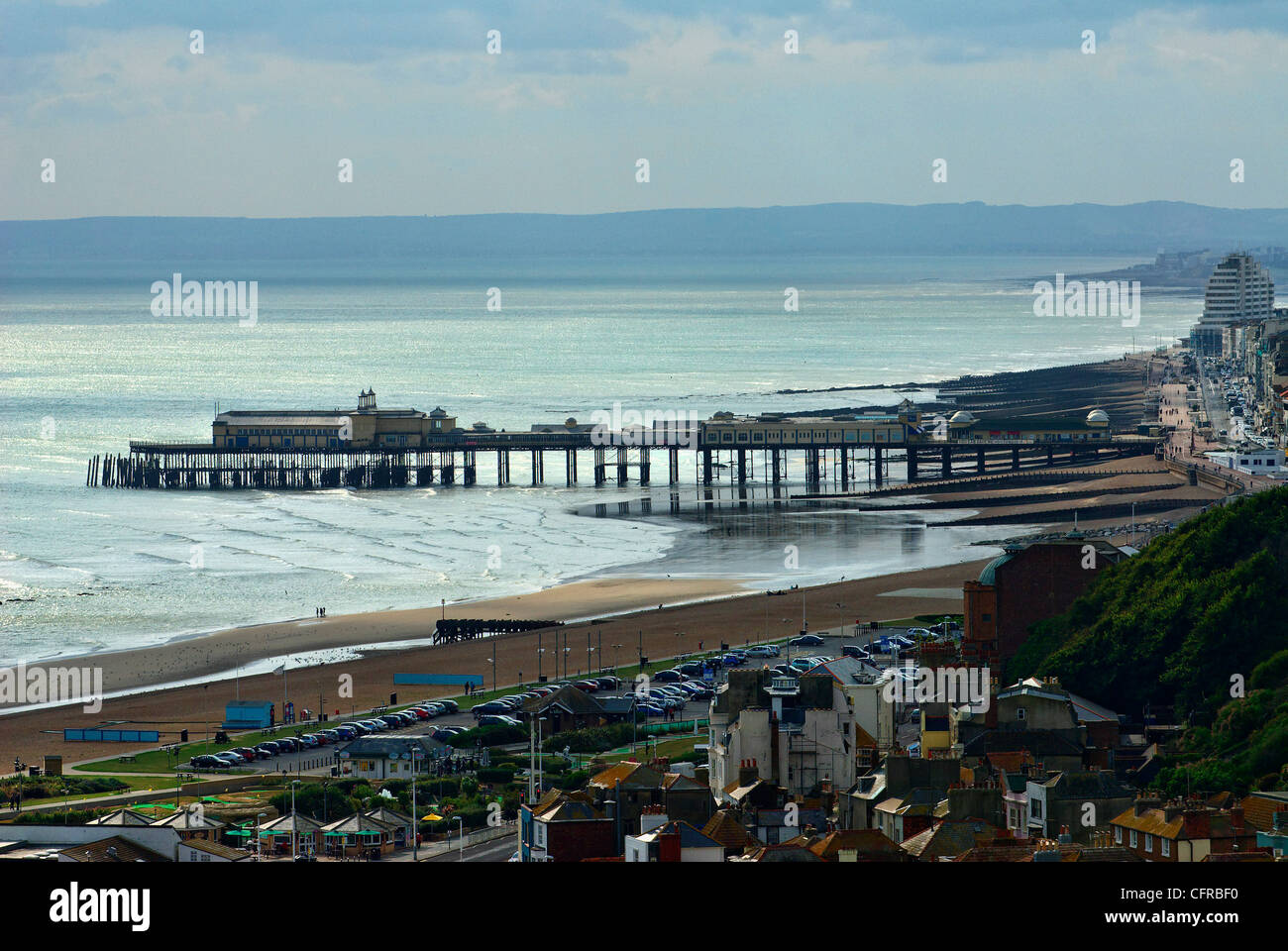 View of Hastings Old Town from East Hill, East Sussex, Britain - 2009 - Stock Image